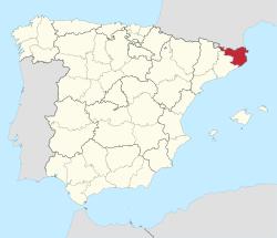Girona op de kaart